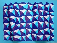 5th grade op art lesson--easy step-by-step drawing then paint (Tempera blocks)
