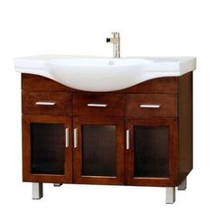 Bellaterra Home Metro 40 in. Single Vanity in Walnut with Porcelain Vanity Top in White-203139 at The Home Depot