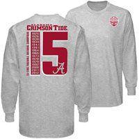 Alabama Crimson Tide 2012 BCS National Champions 15-Time Champions Big Long Sleeve T-Shirt