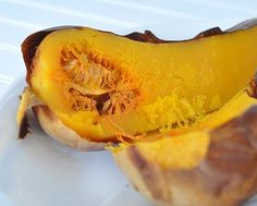 How to Roast a Whole Butternut Squash © A Veggie Venture. Yeah, I like the easy way! :)