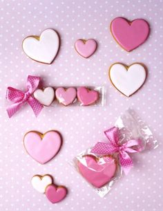 Valentine gingerbread cookies
