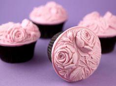 Fondant con relieve en Material de decoración para cupcakes y magdalenas