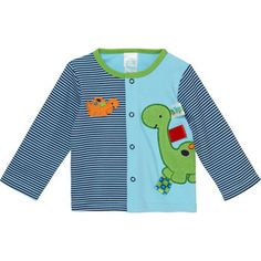 This four-piece clothing set, complete with a blue/green dinosaur printed cardigan, bodysuit, footed pant and a comfort blanket, is enough to make any new parent's heart melt.