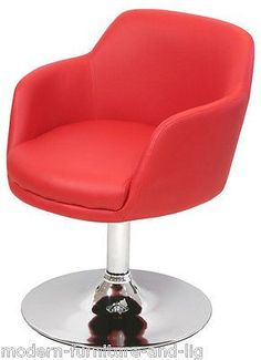 red bucketeer swivel chair Product Description The bucket chair With moulded sides give it a more snug feel than the larger bucket chair This funky