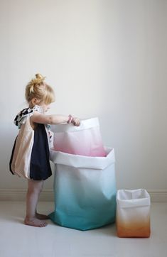 Colourful storage baskets and cute dress~