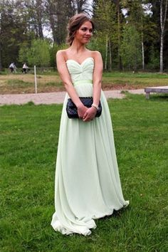 Fabulous Floor Length Sweetheart Long Prom Chiffon Dresses,Evening Dresses,SVD336