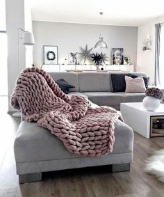 Need this blanket and a grey couch of some sort