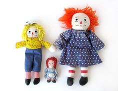 Raggedy Ann and Andy Starter Collection  Set of by sushipotvintage