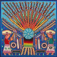 South American Art, Yarn Painting, 6th Grade Art, Mexico Art, Textile Fiber Art, Popular Art, Naive Art, Visionary Art, Aboriginal Art