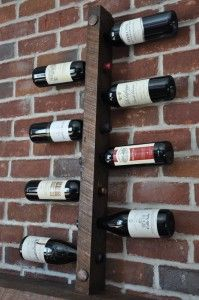 Rustic Wine Rack 8 Bottle Ladder Made From Wood Crates