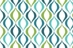 Twirl, Teal   Lime fabric by kateriley on Spoonflower - custom fabric