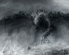 people of color fantasy art | , Download 1280x1024 black and white dragons monsters fantasy art ...