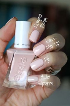 Essie Gel Couture Ballet Nudes : Swatches, Review & Comparisons | Essie Envy Glitter Gel Nails, Gel Nail Designs, Nail Polish, Polish, Manicures, Nail Polishes, Gel Polish