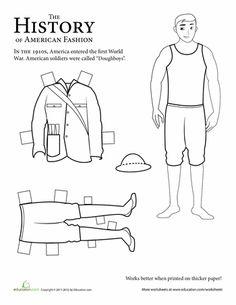 paper doll soldier wwi. Black Bedroom Furniture Sets. Home Design Ideas