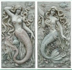 Sculpture arts new house modern home decoration muons mermaid wall hangings…