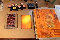 Art journal with Blended Batik technique (Marjie Kemper)