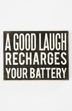 Motivation Quotes : 'A Good Laugh' Box Sign   Nordstrom