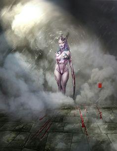 Slaanesh Daemonette by SlaaneshG Fantasy Races, Fantasy Girl, Dark Fantasy, Alien Character, Character Art, Character Design, Warhammer 40k Art, Warhammer Fantasy, Chaos Daemons
