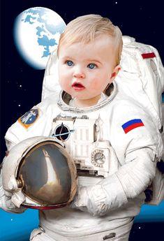 Fotomontaje de Astronauta para Bebé