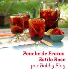 Além de lindo, esse drink do Bobby Flay é super saboroso e refrescante.