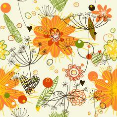 Floral fabric by yaskii on Spoonflower - custom fabric