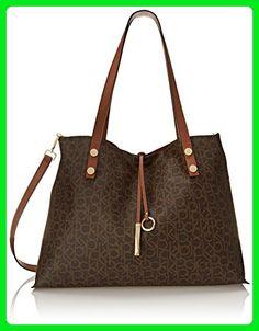 b38a85520dc6eb Calvin Klein Calvin Klein Reversible E/W Logo Tote Bag, Brown/Khaki/Luggage  Saffiano, One Size