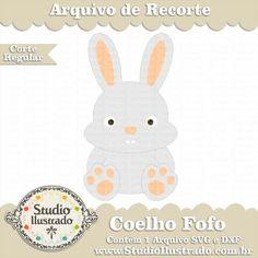 Coelho Fofo, Cute Rabbit, Fofinho, Pet, Fluffy, Farm Animal, Páscoa, Feliz Páscoa, Happy Easter, Ovo, Egg, Easter, Corte Regular, Regular Cut, Silhouette, Arquivo de Recorte, DXF, SVG, PNG