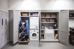 to help you design the best utility room. From clever storage options to ways of saving money, our guide offers laundry room design ideas. Plus how to make the most of space in a small utility room. Boot Room Utility, Small Utility Room, Utility Room Storage, Utility Room Designs, Utility Closet, Basement Storage, Laundry Room Storage, Laundry Room Design, Utility Room Ideas