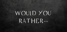 """The Hardest Game Of """"Supernatural"""" """"Would You Rather"""" Ever"""