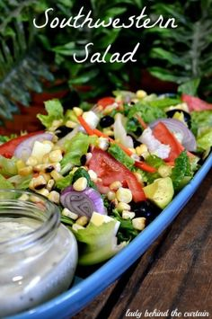 Southwestern Salad by Lady Behind The Curtain