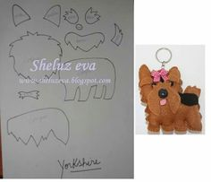 Yorkshire molde Dog Crafts, Crafts To Do, Felt Crafts, Sewing Crafts, Snowman Christmas Ornaments, Dog Ornaments, Felt Christmas, Felt Animal Patterns, Stuffed Animal Patterns