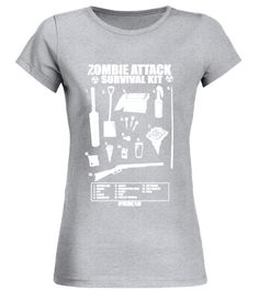 Cool Zombie attack survival kit t-shirt