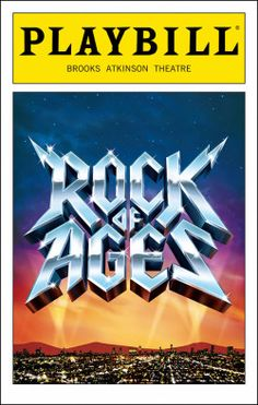 Rock of Ages Playbill - Opening Night
