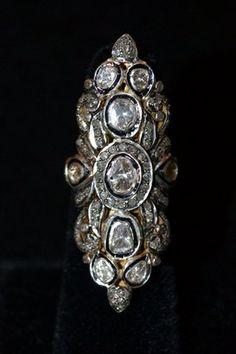 ShopStyle: RonasRona Pfeiffer Nine Stone Diamond Ring