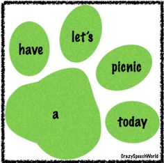 Paw Print Sentences Freebie-works on sentence structure and word order. From Crazy Speech World. Pinned by SOS Inc. Resources @sostherapy.
