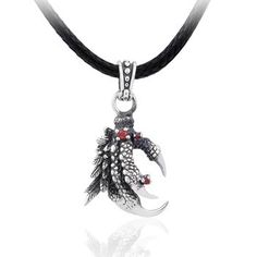 925 Sterling Silver Vintage Dragon's Claw Pendant Necklace Gift For Men