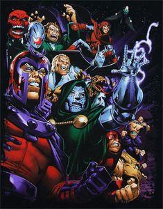Marvel Villians by Sean Chen Black T-Shirt