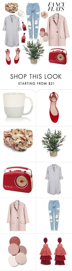 """Morning Coffee"" by lysianna ❤ liked on Polyvore featuring Sarah Cihat, RED Valentino, Gucci, United by Blue, Topshop, LunatiCK Cosmetic Labs, Oscar de la Renta, modern and vintage"
