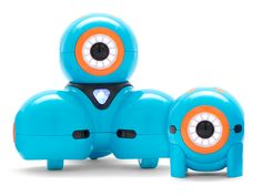 dash and dot are little Cyclops robots that grow along with a child's brain