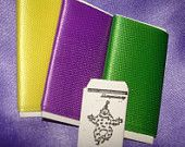 1 Inch Scale Miniature Mardi Gras Fabric and Pattern Envelope to Decorate Your Dollhouse or Roombox