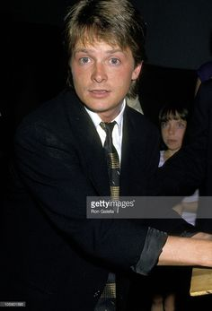Michael J. Fox during Michael J. Fox Sighting at Spago's Restaurant in Hollywood - September 3, 1987 at Spago's Restaurant in Hollywood, California, United States.