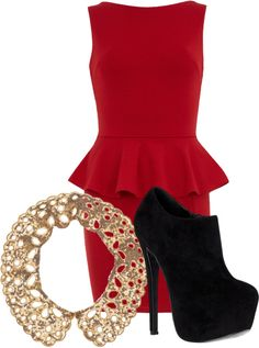 """""""Christmas outfit"""" by dancelovemakeup ❤ liked on Polyvore"""