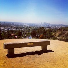 View from Runyon Canyon, where all the celebrities work out in Hollywood.