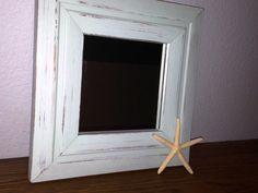 Light Aqua Blue Distressed Mirror / Cottage Chic by JUNQFUSION, $15.99