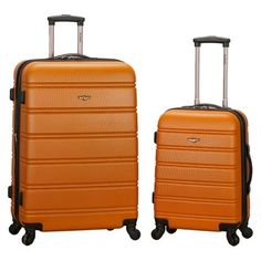 Made from a durable and lightweight ABS material, this Rockland Melbourne Expandable Hardside Spinner Luggage Set is a perfect addition to all of your travel needs. Each piece of luggage allows you to pack more while avoiding the excess weight.