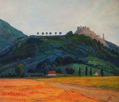 """E. Mihaleva """"Tuscany. Evening"""" ( canvas/oil, 30 х 35), 2016"""