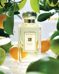 Peppery basil & aromatic white thyme bring unexpected twist to the scent of limes by Jo Malone