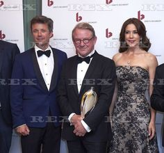 Reumert Award, Copenhagen, Denmark - 22 Jun 2014  Crown Prince Frederik, Henning Jensen and Crown Princess Mary  22 Jun 2014