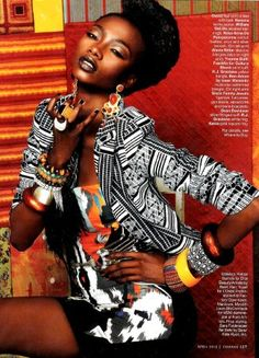 From the 2010 edition of Essence Magazine, These looks were inspired by the Maasai tribe. Styled by Billie Causleesto. Photos taken by David Roemer.