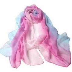 Women's Beach Fashion Wrap Scarf Sarong Color-Mixture Chiffon $8.99